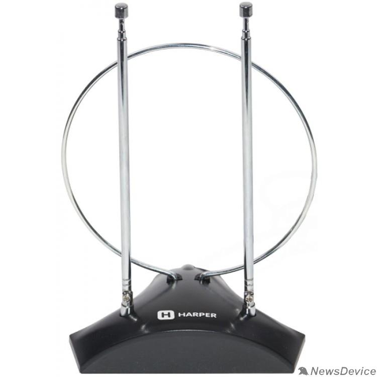 Антенны для цифровых приставок DVB-T2 HARPER ADVB-2010 Усиление: 5-7 dB; Сопротивление: 75 ?; Коэффициент шума: ?3 dB; Длина кабеля: 1,5 м