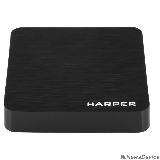 приставки  HARPER ABX-110 черный Amlogic S905W Quad-Core Cortex-A53 2.0GHz; Оперативная память: 1GB DDR3; Постоянная память: 8GB eMMC