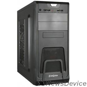 Корпуса Exegate EX278394RUS Корпус Miditower Exegate CP-603 Black, ATX, <без БП>, 2*USB+2*USB3.0, Audio