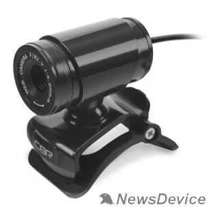 Цифровая камера CBR CW 830M Black, Веб-камера с матрицей 0,3 МП, разрешение видео 640х480, USB 2.0, встроенный микрофон, ручная фокусировка, крепление на мониторе, длина кабеля 1,4 м, цвет чёрный