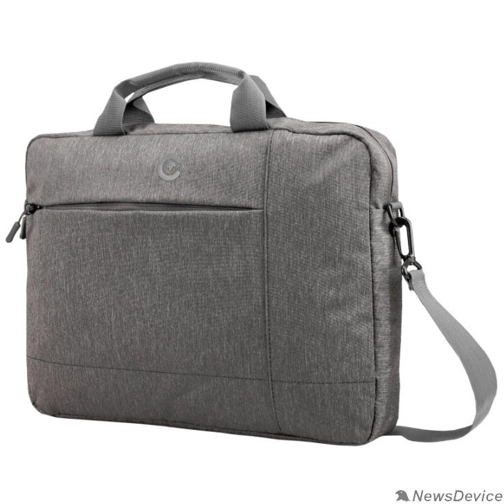Сумка для ноутбука Сумка Continent  CC-211 Grey (полиэстр, серый  15,6'')