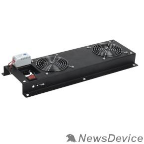 Монтажное оборудование ITK FM05-22M Вентиляторная панель с выключателем и термостатом 2 модуля черная