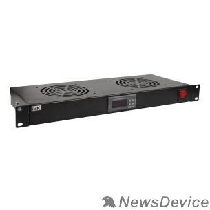 "Монтажное оборудование ITK FM05-1U4TS 19"" вентил. модуль 1U 4 вентилятора с цифровым термостат"