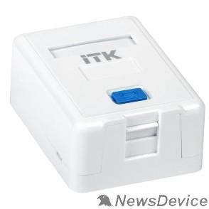 Монтажное оборудование ITK CS2-012 Корпус настенной розетки для 1 мод. Keystone Jack