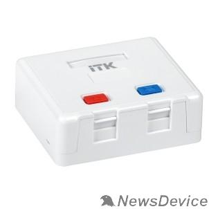 Монтажное оборудование ITK CS2-022 Корпус настенной розетки для 2 мод. Keystone Jack