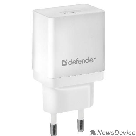 Аксессуар Defender Сетевой адаптер 1xUSB, 5V/2.1А, белый , пакет (EPA-10) (83549)