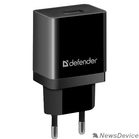 Аксессуар Defender Сетевой адаптер 1xUSB, 5V/2.1А, пакет, черный (EPA-10) (83572)