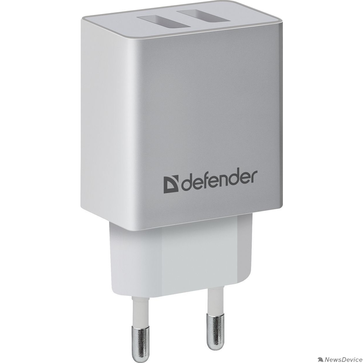 Аксессуар Defender Сетевой адаптер 2xUSB, 2.1А , белый (UPA-22) (83580)