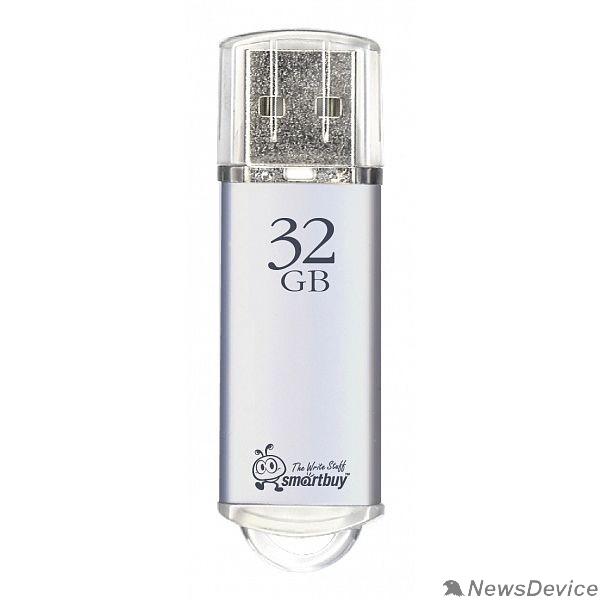 Носитель информации Smartbuy USB Drive 32Gb V-Cut series Silver SB32GBVC-S