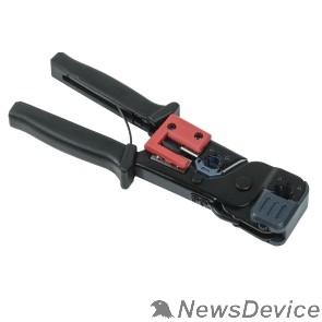 Патч-корды, Патч-панели ITK TM1-B10V Инструмент обжим RJ-45/12/11 без храп. мех. чёрн-красн.