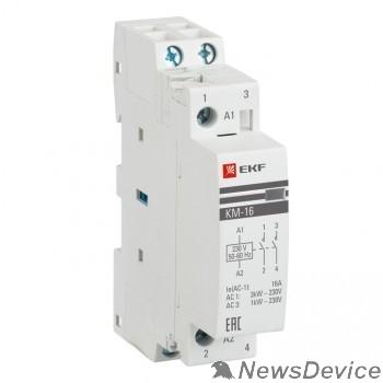 EKF Контакторы модульные и малогабаритные EKF km-1-16-20 Контактор модульный КМ 16А  2NO (1 мод.) PROxima