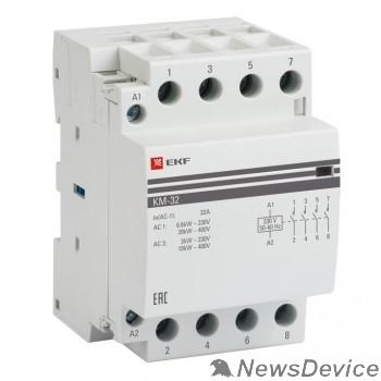 EKF Контакторы модульные и малогабаритные EKF km-3-16-40 Контактор модульный КМ 16А  4NO (3 мод.) PROxima