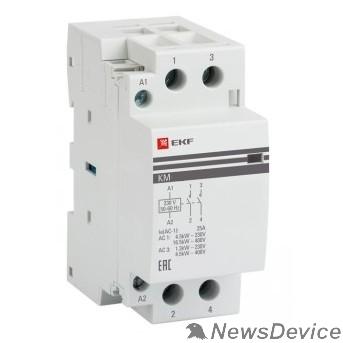 EKF Контакторы модульные и малогабаритные EKF km-2-20-20 Контактор модульный КМ 20А  2NO (2 мод.) PROxima