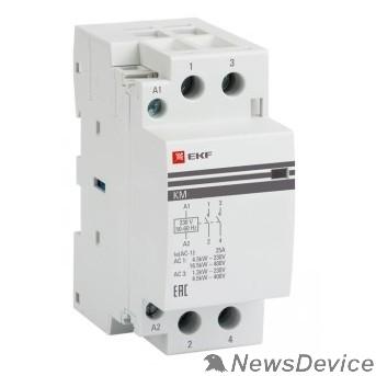 EKF Контакторы модульные и малогабаритные EKF km-2-25-20 Контактор модульный КМ 25А  2NO (2 мод.) PROxima