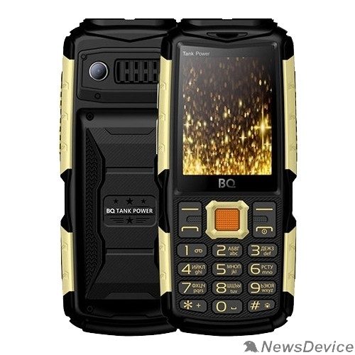 Мобильный телефон BQ-2430 Tank Power Black+Gold