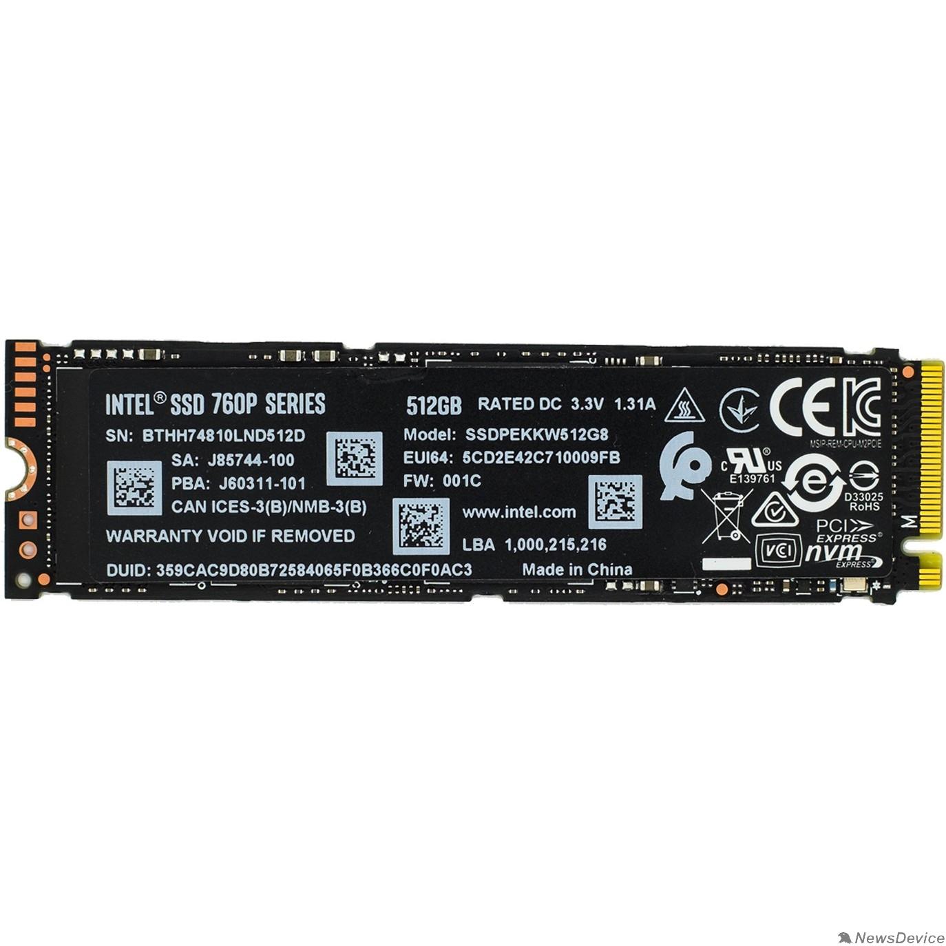 накопитель Intel SSD 512Gb M.2 760P Series SSDPEKKW512G801