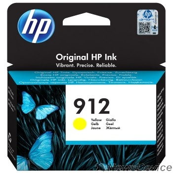 Расходные материалы HP 3YL79AE Картридж № 912 струйный желтый (315 стр) HP OfficeJet 801x/802x