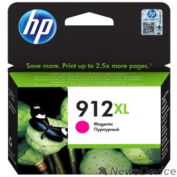 Расходные материалы HP 3YL82AE Картридж № 912 струйный пурпурный (825 стр) HP OfficeJet 801x/802x