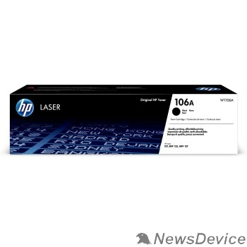 Расходные материалы HP W1106A Картридж 106A лазерный черный (1000 стр) HP LJ 107/135/La