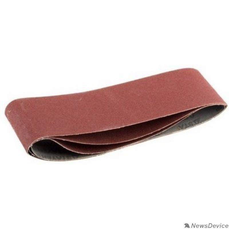 """Шлифовальная бумага, лента, круги Лента STAYER """"MASTER"""" шлифовальная универсальная бесконечная на тканевой основе, для ЛШМ, P80, 75х533мм, 3шт 35442-080"""