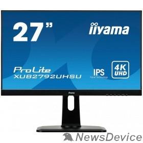 "Монитор IIYAMA 27"" XUB2792UHSU-B1 черный IPS LED 3840x2160 5ms 16:9 300cd 178/178 DVI HDMI DisplayPort USBHub"