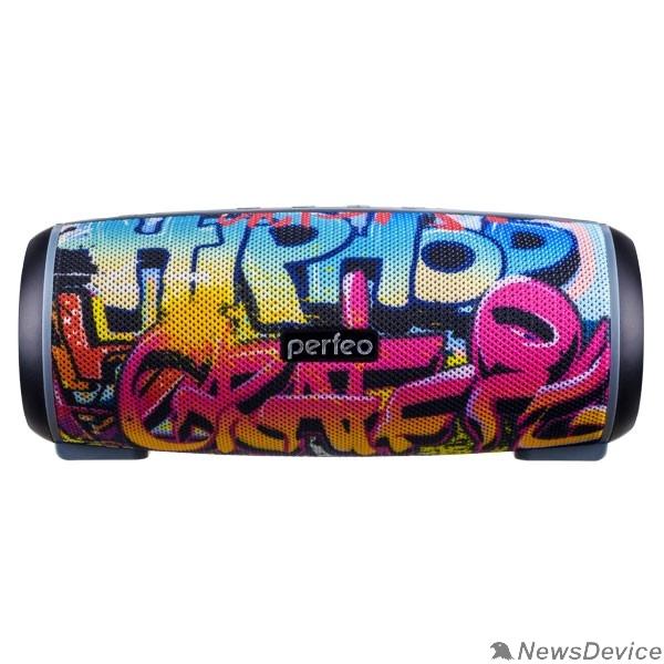 "Колонки Perfeo Bluetooth-колонка ""HIP HOP"" FM, microSD, USB, AUX, мощность 12Вт, 2600mAh, граффити PF_A4336"