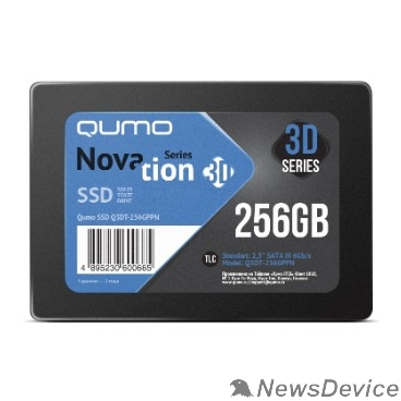 накопитель QUMO SSD 256GB QM Novation Q3DT-256GPPN SATA3.0 OEM