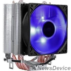 Вентилятор Cooler Aerocool Verkho 4 Lite 125W/ Intel 115*/AMD/ PWM / Blue LED/ Clip
