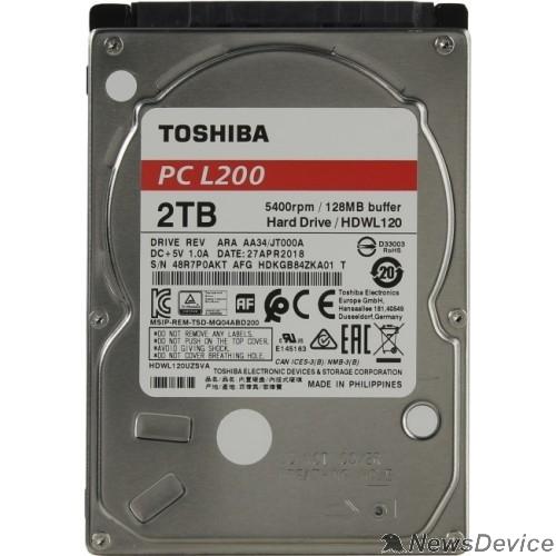 "Жесткий диск 2TB Toshiba L200 (HDWL120UZSVA) Serial ATA III, 5400 rpm, 128Mb buffer, 2.5"""
