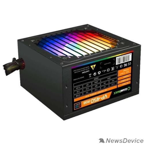 Блоки питания GameMax VP-450-RGB 80+ Блок питания ATX 450W, Ultra quiet