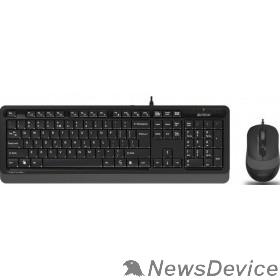 Клавиатура A-4Tech Клавиатура + мышь A4 FStyler F1010 GREY клав:черный/серый мышь:черный/серый USB 1147539