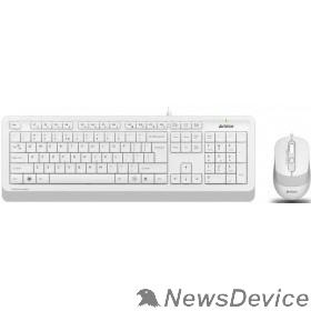 Клавиатура A-4Tech Клавиатура + мышь A4 Fstyler F1010 WHITE клав:белый/серый мышь:белый/серый USB 1147556