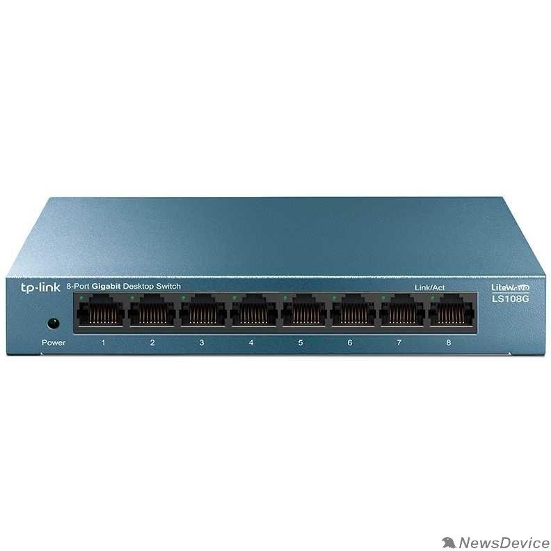 Сетевое оборудование TP-Link LS108G 8-портовый 10/100/1000 Мбит/с настольный коммутатор