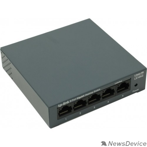 Сетевое оборудование TP-Link LS105G 5-портовый 10/100/1000 Мбит/с настольный коммутатор SMB