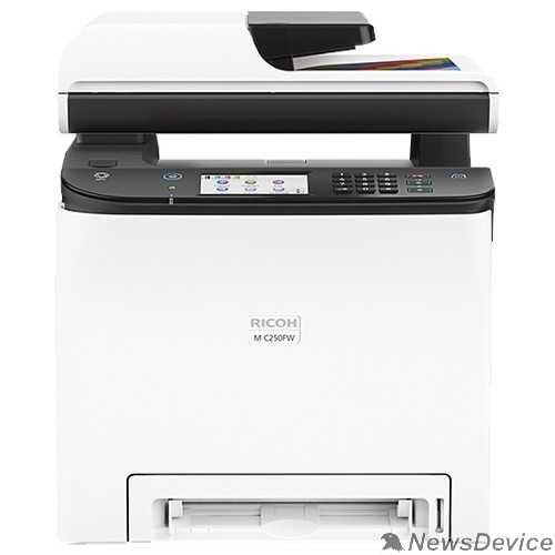 Принтер Ricoh M C250FW МФУ, A4, цветной, 256Мб, 25стр/мин, дуплекс, факс, SPDF50, PCL, PS3, LAN, WiFi, старт.картр.(1000стр), самозапуск (408329)