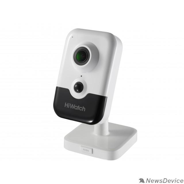 Видеонаблюдение HiWatch DS-I214(B) (2.8 mm) (B)  Видеокамера IP 2.8-2.8мм цветная корп.:белый
