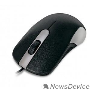 Мышь CBR CM 105 Silver, Мышь проводная, оптическая, USB, 1200 dpi, 3 кнопки и колесо прокрутки, длина кабеля 1,8 м, цвет чёрный-серебристый
