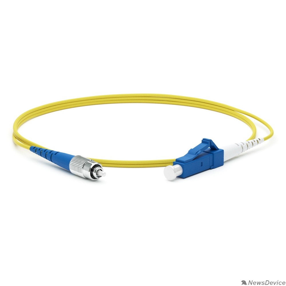 Патч-корд Hyperline FC-S2-9-FC/UR-LC/UR-H-1M-LSZH-YL Патч-корд волоконно-оптический (шнур) SM 9/125 (OS2), FC/UPC-LC/UPC, 2.0 мм, simplex, LSZH, 1 м