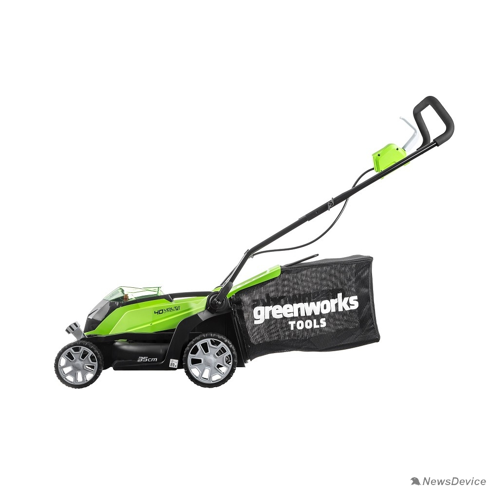 Газонокосилки Greenworks Газонокосилка аккумуляторная G40LM35, 40V, 35 см, без АКБ и ЗУ 2501907