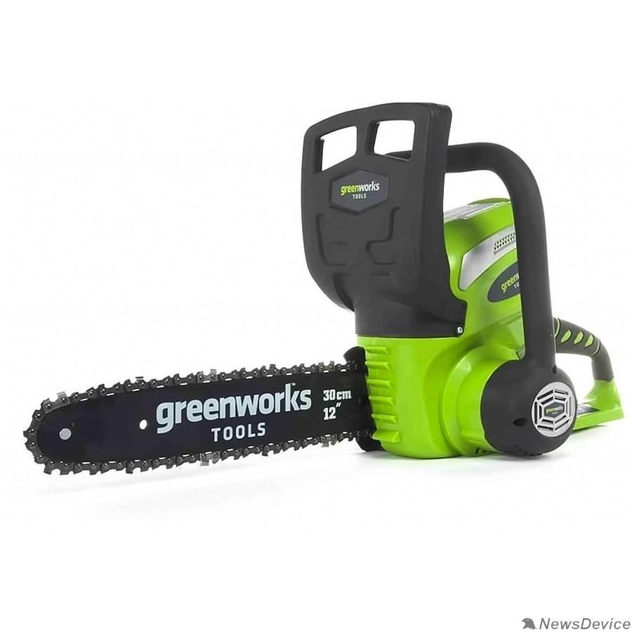 Пилы Greenworks Цепная пила аккумуляторная G40CS30, 40V, 30 см, без АКБ и ЗУ 20117