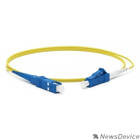 Патч-корд Hyperline FC-S2-9-LC/UR-SC/UR-H-2M-LSZH-YL Патч-корд волоконно-оптический (шнур) SM 9/125 (OS2), LC/UPC-SC/UPC, 2.0 мм, simplex, LSZH, 2 м
