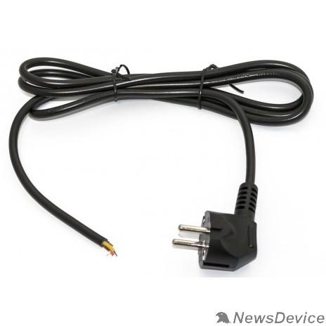 Кабели Силовые Hyperline PWC-SHM-OE-5.0-BK кабель с вилкой Schuko (open end), длиной 5м (3x1.0 кв.мм), цвет черный