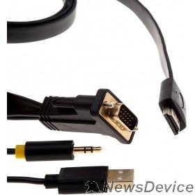 Переходник Telecom Кабель-переходник VGA+audio+USB --> HDMI_M/M 1,8м <TA575-1.8M> 6926123465042
