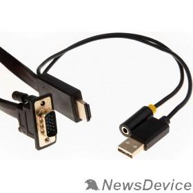 Переходник Telecom Кабель-переходник HDMI+audio+USB --> VGA_M/M 1,8м <TA675-1.8M> 6926123465028