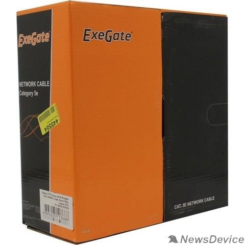 Кабель Exegate EX281812RUS Кабель Exegate  FUTP4-C5e-CCA-S24-IN-PVC-GY-100 FTP 4 пары кат.5e CCA, 24AWG, экран, бухта 100м, серый, PVC