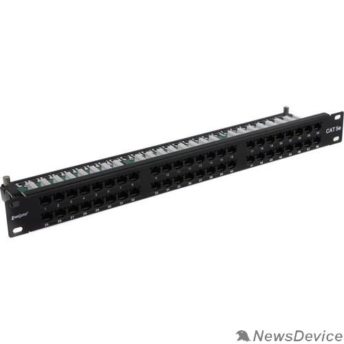 """Монтажное оборудование Exegate EX281081RUS Патч-панель UTP 19"""" 48 port кат.5e ExeGate  разъём KRONE&110 (dual IDC), 1U, RoHS, цвет черный"""