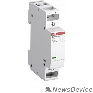 Контакторы АВВ ABB 1SBE121111R0611 Контактор ESB20-11N-06 модульный (20А АС-1, 1НО+1НЗ), катушка 230В AC/DC