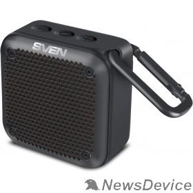 Колонки SVEN PS -88, черный  (7  Вт,  Waterproof  (IPx7),  TWS, Bluetooth, microSD, карабин, 1500мА*ч