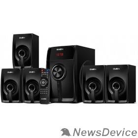 Колонки SVEN  HT-202, черный (100Вт, Bluetooth, FM-тюнер, USB/SD, дисплей )