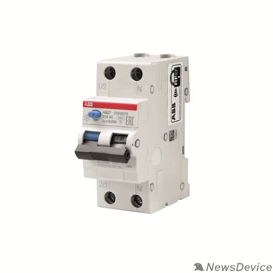 Дифавтоматы ABB 2CSR245072R1164 Авт.диф.тока DSH201R C16 30мА тип АС